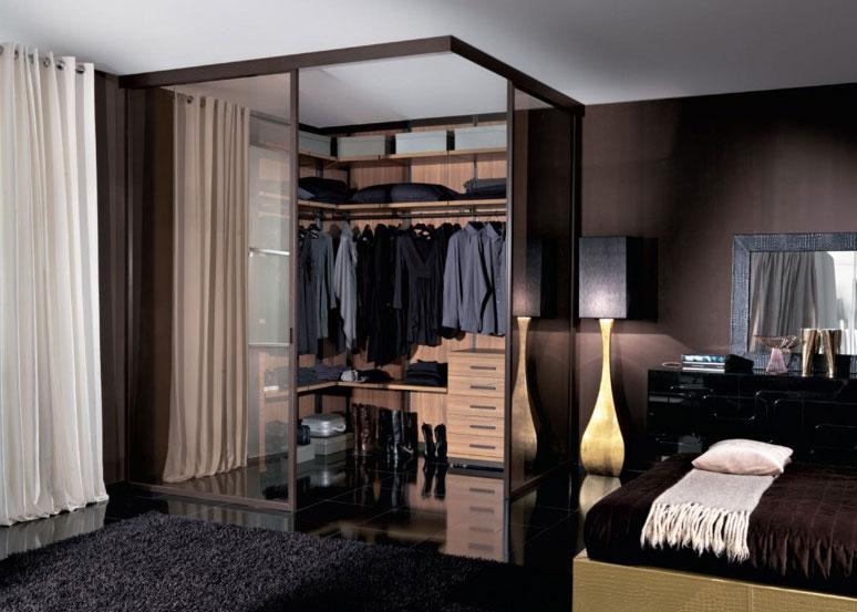 Дизайн спальня с гардеробной комнатой дизайн